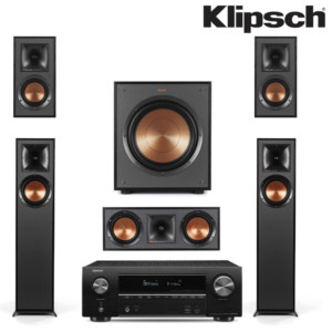 Klipsch Reference R-610F With Denon Avr-X1500h 5.1 Surround System