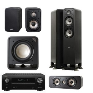 Polk Audio Signature Series S55E 5.1 System & Denon AVR-x2700H