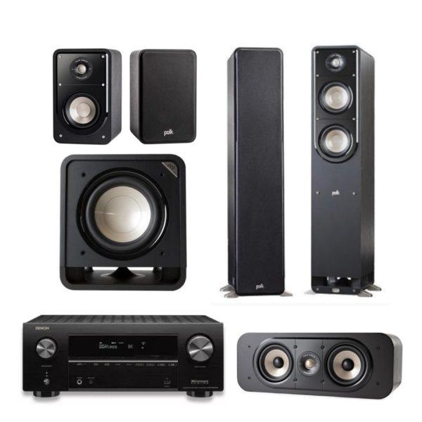 polk audio s55e signature audio system 5.1