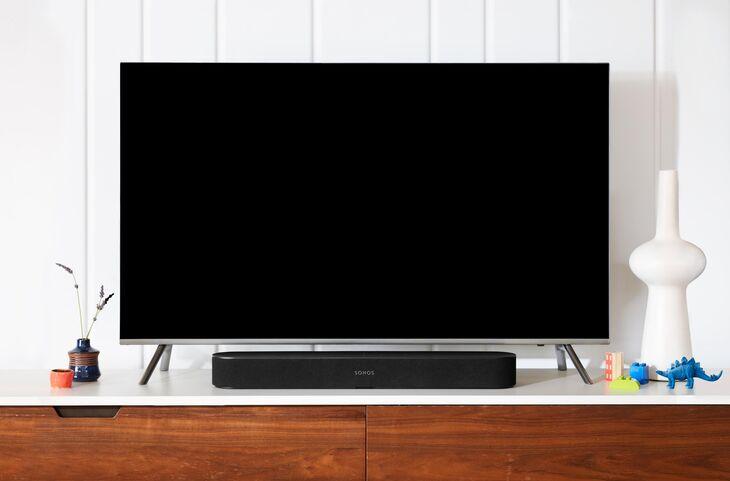 beam black tv credenza