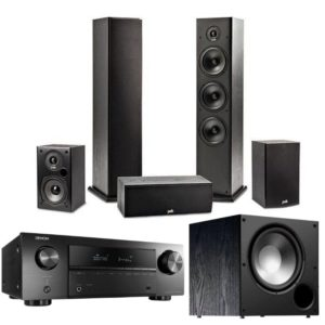 Polk Audio T Series 5.1 Speaker System & Denon AVR-x550BT