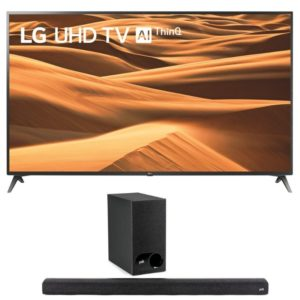 "LG 65"" Smart UHD TV & Polk Audio Signa S2 Soundbar"