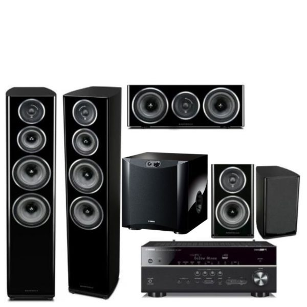 whafedale diamond d11 5.1 home theatre system with yamaha rx-v685 amplifier