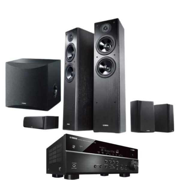 yamaha series ns f51 5.1 speaker package with yamaha rx-v585 amplifier