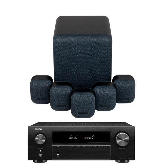 monitor audio mass 5.1 home theatre system & denon avr-x550bt (midnight)