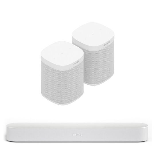 sonos one and sonos beam combo