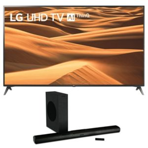 "lg 65"" smart uhd tv & wharfedale vista 200s soundbar"