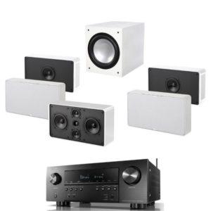 Jamo D 500 5.1 THX Home Cinema System White & Denon AVR-s950H Receiver