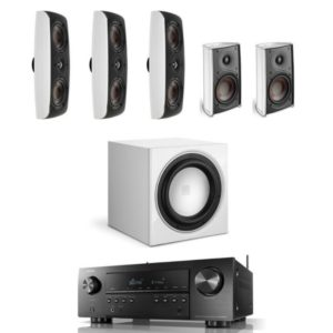 Dali Fazon 5.1 Home Theatre System White With Denon AVR-s650H Amplifier