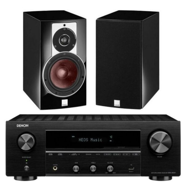dali rubicon 2 (white or black) and denon dra-800h stereo package