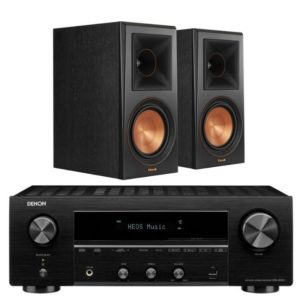 Klipsch RP600M Bookshelf speakers And Denon DRA-800H Stereo Package