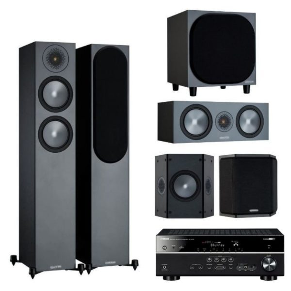 monitor audio bronze 200 5.1 system with free yamaha rx-v575 amplifier