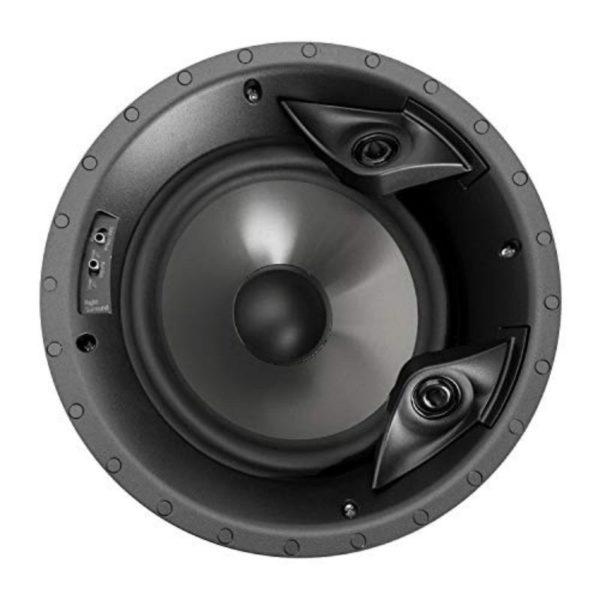 polk audio 80f/x-rt in-sealed two-way round surround speaker-8-inch woofer