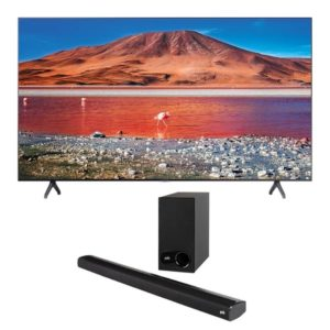 "Samsung 82"" UHD 4K Flat Smart TV TU7000 & Polk Signa S2 Soundbar"