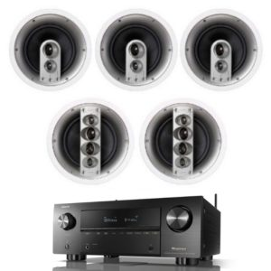 jamo ic610 hcs5 home theatre package with denon avc-x3700h