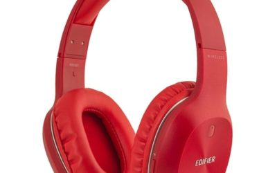 Edifier W800BT Bluetooth Stereo Headphones (Red)
