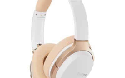 Edifier W830BT Bluetooth Stereo Headphones (White/Gold)