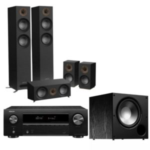 jamo s807 5.1 home cinema system (black) with denon avr-x550bt