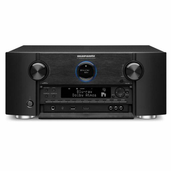 marantz sr7015 9.2ch. 8k av amplifier with 3d sound and heos built-in