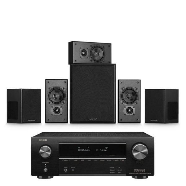 miller & kreisel movie 5.1 system with denon avr-x1600h amplifier