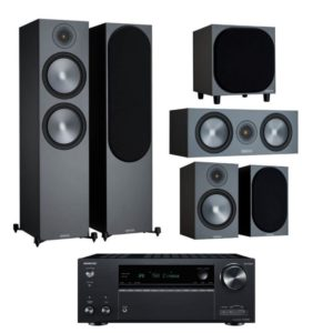 Monitor Audio Bronze 500 5.1 Home Theatre System With Onkyo TX-NR696 Amplifier