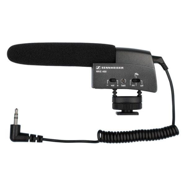 sennheiser mke 400 compact shotgun mic for cameras