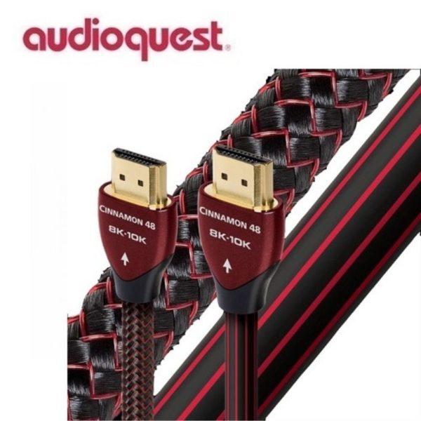 audioquest 2m cinnamon hdmi cable side view