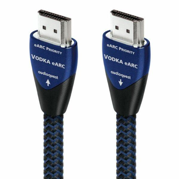 audioquest 2m vodka hdmi e-arc cable front view