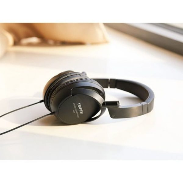 edifier wired over-ear headphones side view