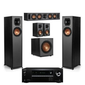 Klipsch R-610F 5.1 Surround System With Onkyo TX-SR393 Amplifier