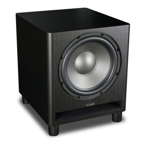 mission 300w active subwoofer side view