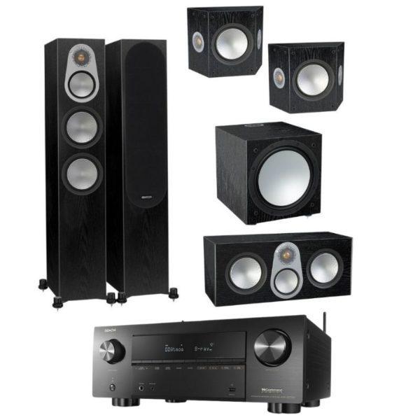 monitor audio silver 300 5.1 home theatre with denon avc-x3700h amplifier