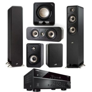 Polk Audio S50e Signature Series 5.1 Speaker System With Yamaha RX-V585 Amplifier