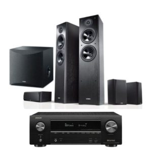 Yamaha Series NS F51 5.1 Speaker Package With Denon AVR-x1600H Amplifier