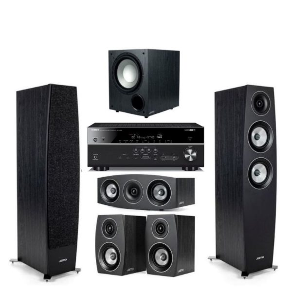 jamo c95ii 5.1 home theatre system with yamaha rx-v685 amplifier
