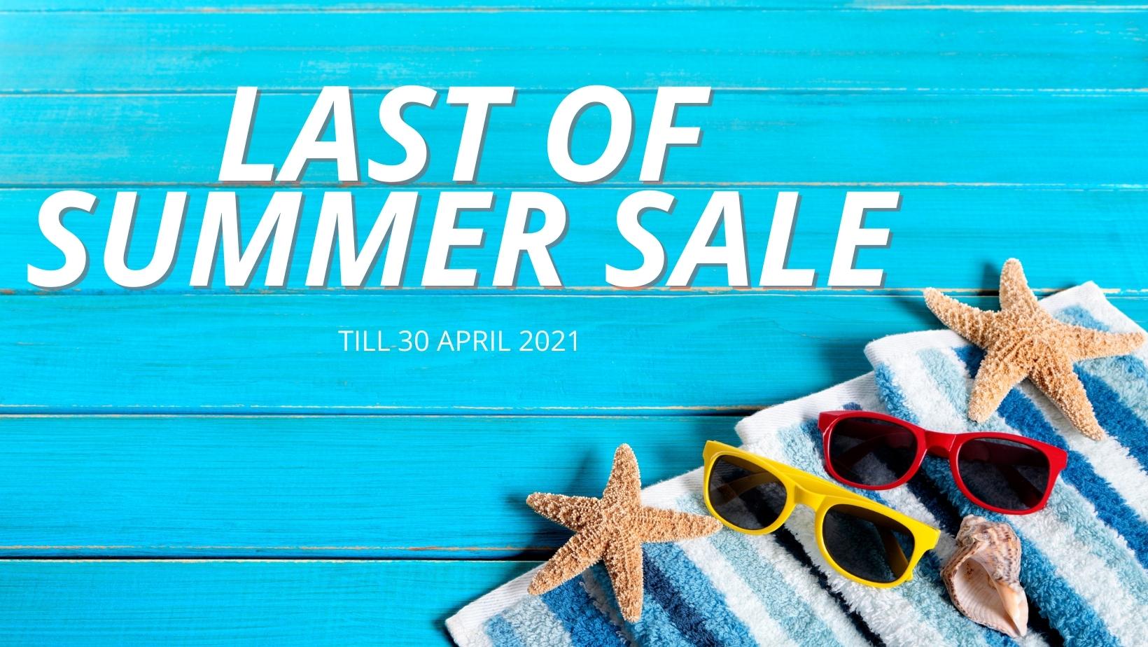 last of summer sale