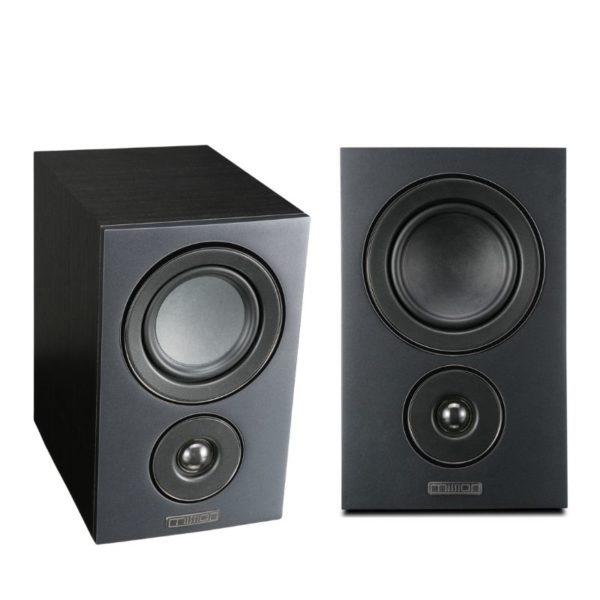 mission lx-2+ 2-way bookshelf speaker black