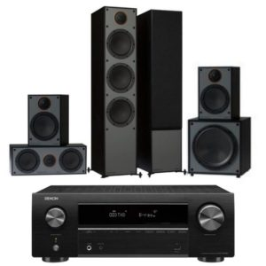 Monitor Audio Monitor 300 5.1 System With Denon AVR-x550BT Amplifier