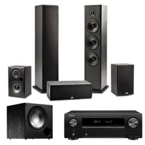 Polk T-Series 5.1 Speaker System With Denon AVR-x250BT Amplifier Plus FREE PSW10 SUB VALUE R4990