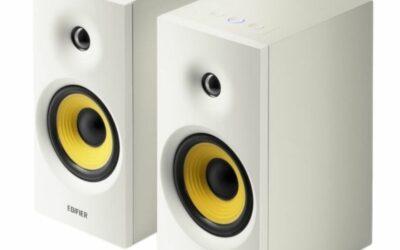 Edifier R1080BT Active Bookshelf/Multimedia Speaker Pair (White)