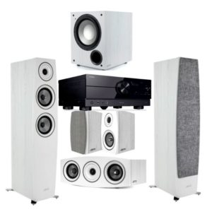 Jamo C95II 5.1 Home Theatre System (White) With Yamaha RX-A2A Amplifier