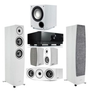 Jamo C95II 5.1 Home Theatre System With Yamaha RX-V6A Amplifier White