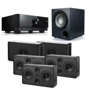 Jamo D500 5.1 System THX Select 2 With Yamaha RX-V6A Amplifier (Black)