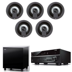 Jamo IC206 HCS 5.1 Home Theatre Package With Yamaha RX-V385 Amplifier