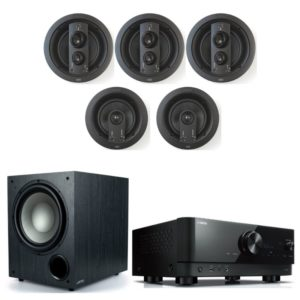 Jamo IC608 HCS 5.1 Home Theatre Package With Yamaha RX V6A Amplifier