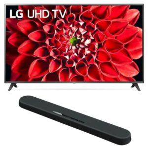 LG UHD 75 Inch UN7180 Series, 4K Active with Yamaha YAS 108 Soundbar