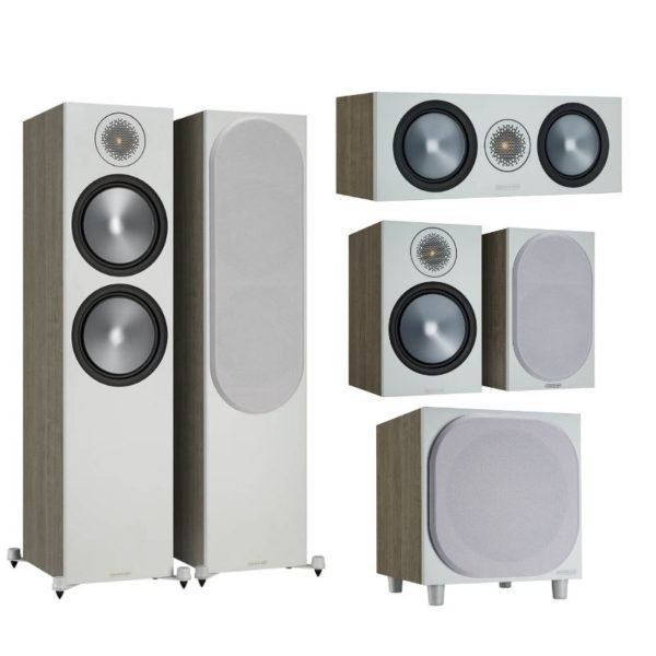 monitor audio bronze 500 5.1 home theatre system urban grey