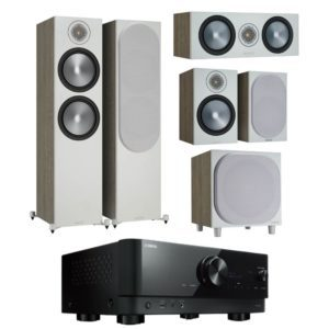 Monitor Audio Bronze 500 5.1 Home Theatre System Urban Grey with Yamaha RX-V6A Amplifier