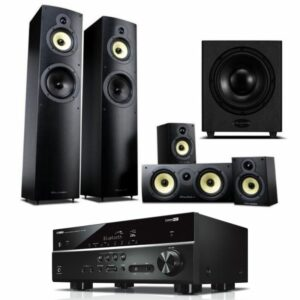 Wharfedale Crystal 5.1 Home Theatre Speaker Package With Yamaha RX-V385 Amplifier