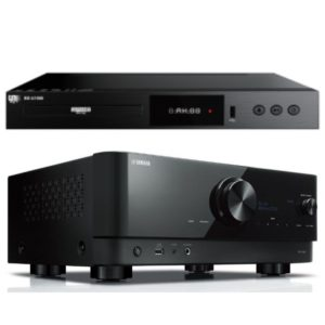 Yamaha RX-V6A 7.2 - Channel AV Receiver With 8K HDMI and Musiccast and GMI Audio BD U1000 Blu-ray Player